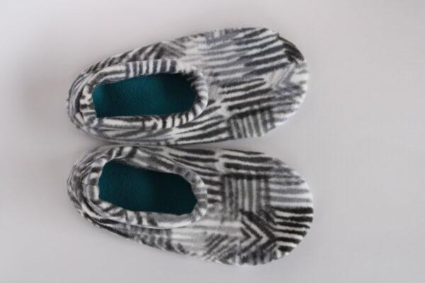 Shop Wyoming Black, Grey & White Patterned Slipper Socks/House Shoes