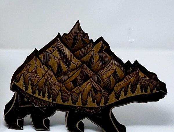 Shop Wyoming Laser Etched Bear