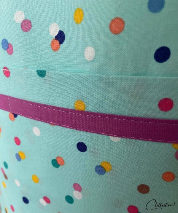 Shop Wyoming Mint Green and Polka dots everyday apron