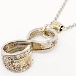 "Shop Wyoming Silverware Infinity Necklace ""Reflection"""