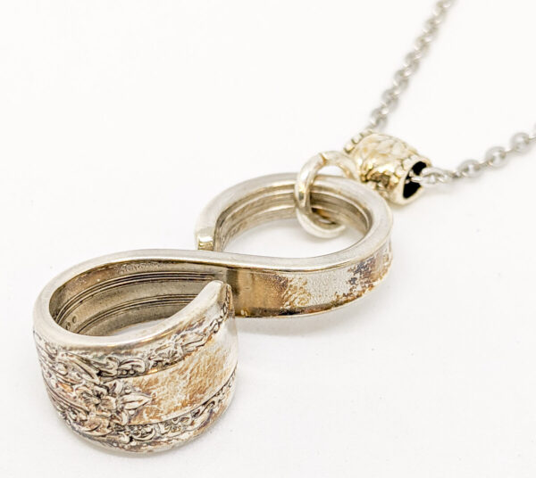 """Shop Wyoming Silverware Infinity Necklace """"Reflection"""""""