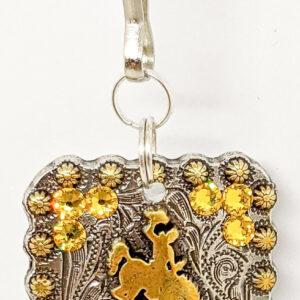 Shop Wyoming Wyoming Bucking Horse Gold Zipper Pull