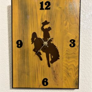 Shop Wyoming Wyoming Bucking Horse Wall Clock