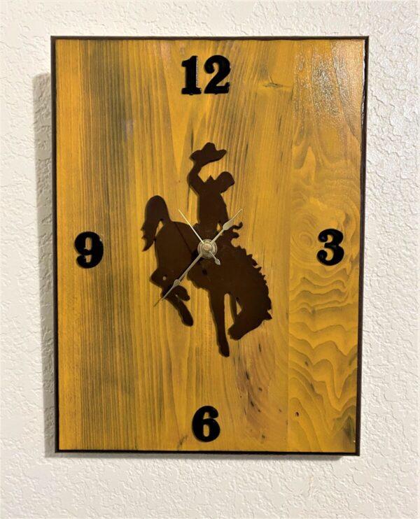 Shop Wyoming Wyoming Bucking Horse Wall Clock