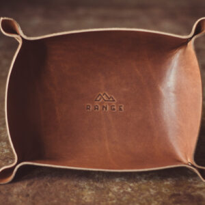 Shop Wyoming Vermillion Leather Tray