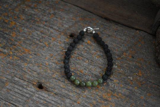 Shop Wyoming Wyoming Jade Bracelet, Wyoming Jade and lava bead bracelet