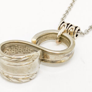 "Shop Wyoming Silverware Infinity Necklace ""Wentworth"""