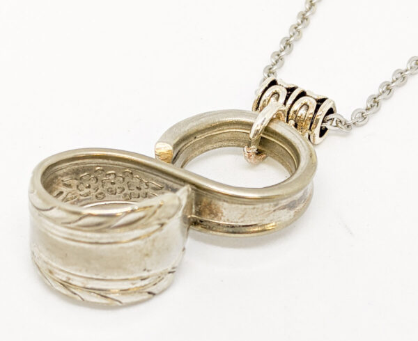 """Shop Wyoming Silverware Infinity Necklace """"Wentworth"""""""