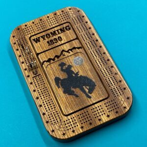 Shop Wyoming Zebra Wood 4 track Wyoming Cribbage Board