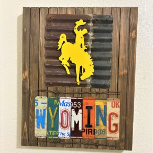 Shop Wyoming Wyoming Bucking Horse & License Plate Wall Art
