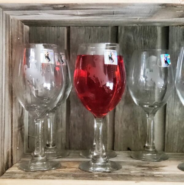 Shop Wyoming Steamboat Etched Wine Glass