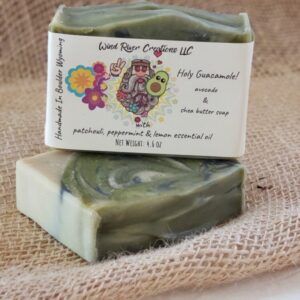 Shop Wyoming Holy Guacamole! (Raw Avocado & Shea Butter Soap with Patchouli, Peppermint & Lemon)