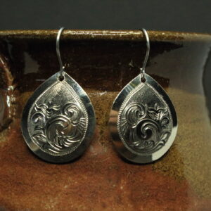 Shop Wyoming Silver engraved pendant earrings