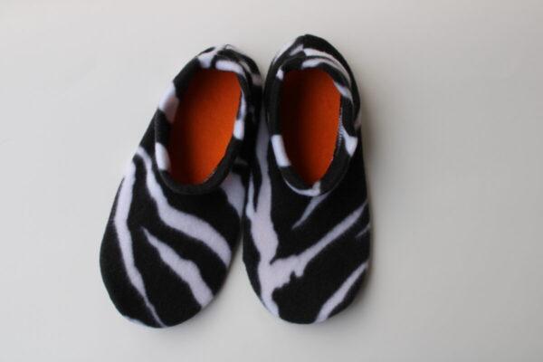 Shop Wyoming Zebra Print Slipper Socks/House Shoes