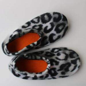 Shop Wyoming Serval Print Slipper Socks/House Shoes