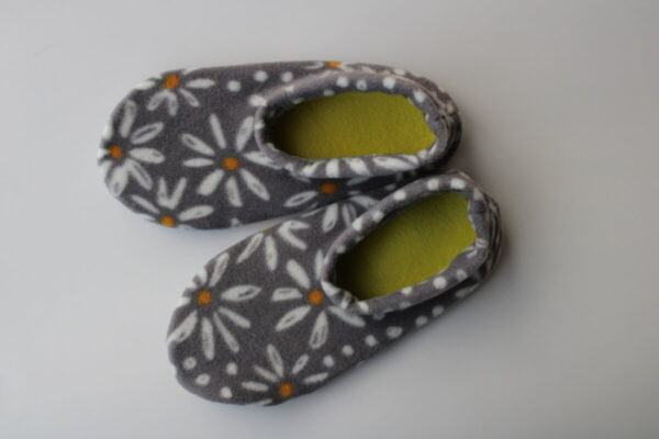 Shop Wyoming Daisies on Gray Slipper Socks/House Shoes