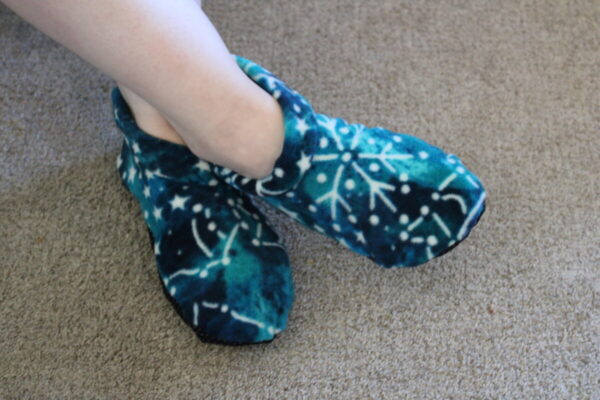 Shop Wyoming Blue Green Constellations Slipper Socks/House Shoes