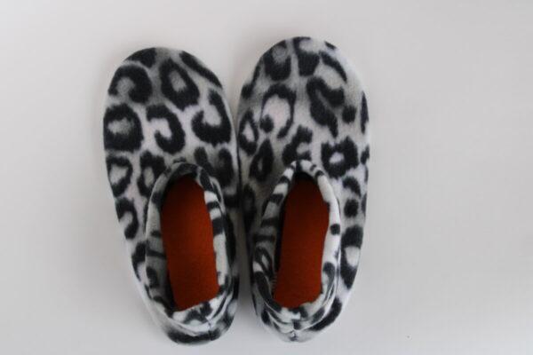 Shop Wyoming Serval Print Slipper Socks/House Shoes