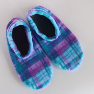 Shop Wyoming Watercolor Plaid Slipper Socks/House Shoes