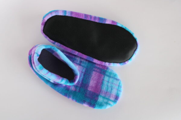 Shop Wyoming Watercolor Plaid Slipper Socks/House Shoes