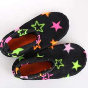 Shop Wyoming Neon Stars Slipper Socks/House Shoes