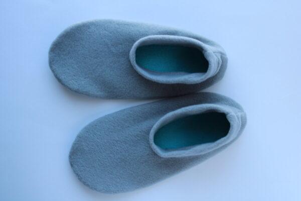 Shop Wyoming Gray Fleece Slipper Socks/House Shoes