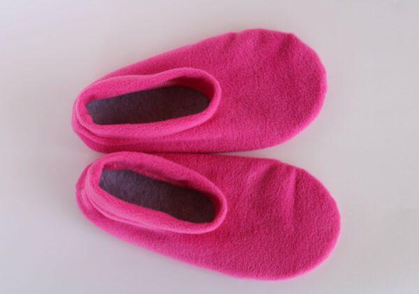 Shop Wyoming Hot Pink Slippers/ Non Slip Slipper Socks