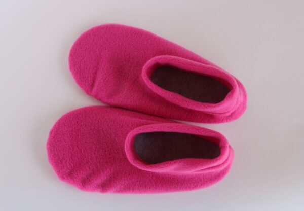 Shop Wyoming Hot Pink Fleece Slipper Socks/House Shoes