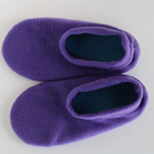 Shop Wyoming Purple Fleece Slipper Socks/House Shoes