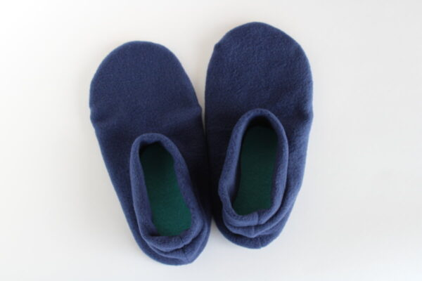 Shop Wyoming Navy Blue Slipper Socks/House Shoes