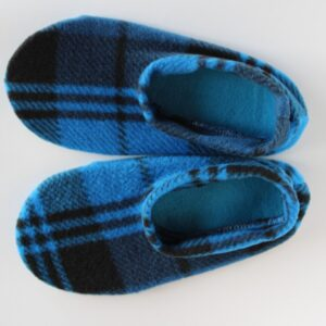 Shop Wyoming Blue & Black Plaid Slipper Socks/House Shoes
