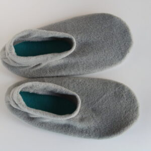 Shop Wyoming Gray Fleece Slipper Socks/House Shoes
