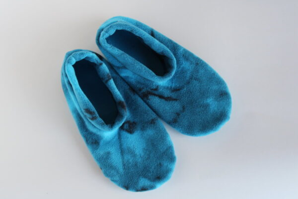 Shop Wyoming Blue Marbled Slipper Socks/House Shoes