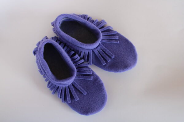 Shop Wyoming Medium Purple Moccasin Slipper Socks/ House Shoe Socks (Copy)
