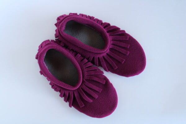 Shop Wyoming Magenta Moccasin Slipper Socks/ House Shoe Socks (Copy) (Copy)