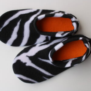 Shop Wyoming Zebra Print Slipper Socks/House Shoes