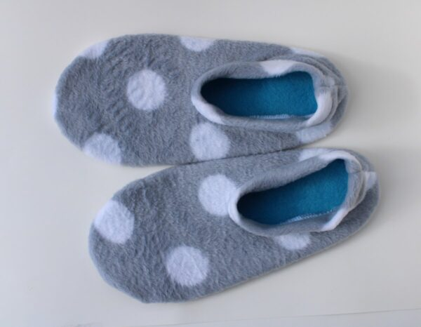 Shop Wyoming Gray Polka Dot Slipper Socks/House Shoes