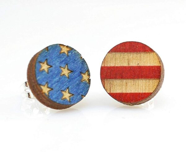 Shop Wyoming American flag stud | Handmade in the USA