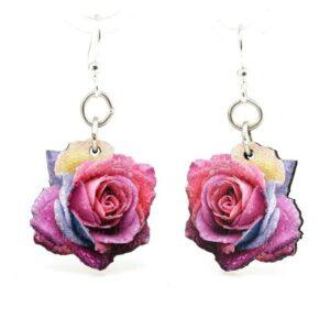 Shop Wyoming Wood flower earrings | Handmade in the USA