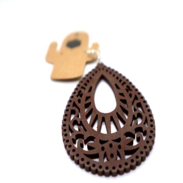 Shop Wyoming Long Wooden Hollow Dangled Earrings