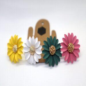 Shop Wyoming Daisy Flower W/ Golden Center Studded Earrings