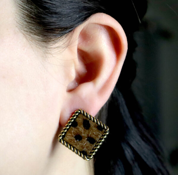 Shop Wyoming Squared/Rounded Leopard Textured Fur with Golden Trimming