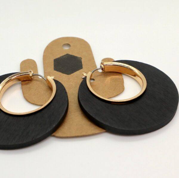 Shop Wyoming Wooden Circled/Squared Dangled Earrings