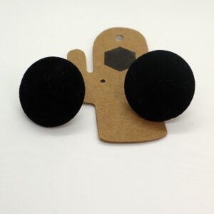 Shop Wyoming Black Button Like Felt Studded Earrings