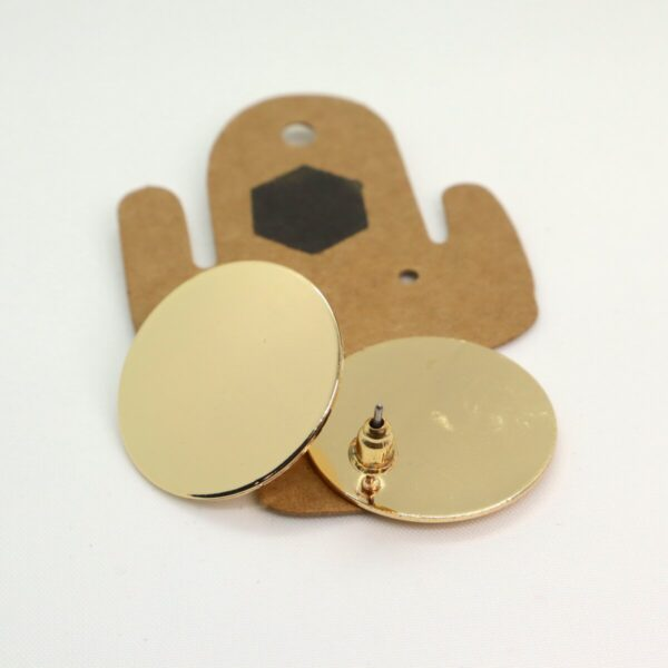 Shop Wyoming Golden Circled Studded Earrings