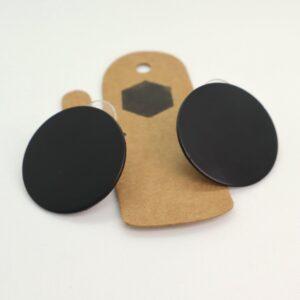 Shop Wyoming Matte Black Circled Studded Earrings