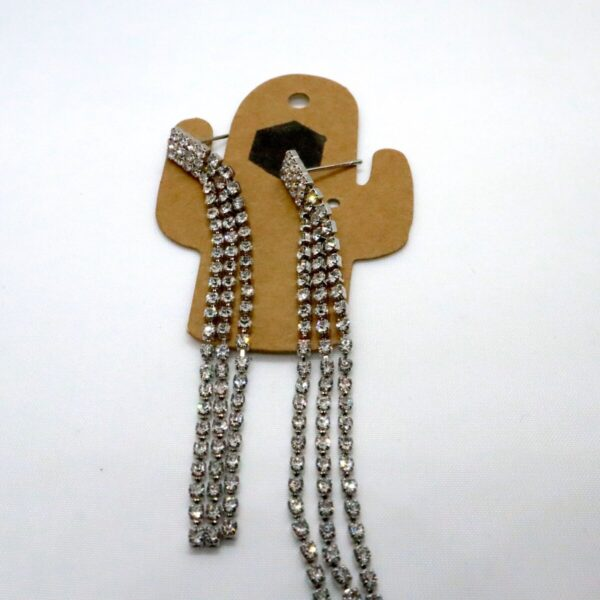 Shop Wyoming Glamorous 3- Long Strands w/ Rhinestones Dangled Earrings