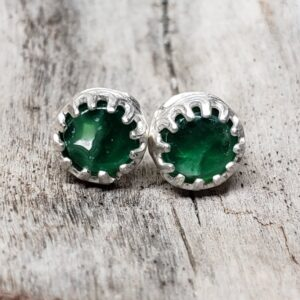 Shop Wyoming Yellowstone Variscite round earring studs