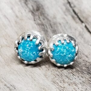 Shop Wyoming Turquoise round earring studs