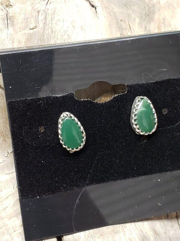 Shop Wyoming Yellowstone Variscite Pear shape earrings